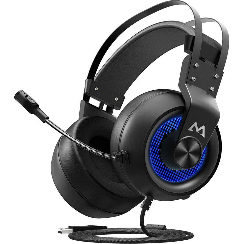 Mpow Eg3 PC PS4 USB Gaming Headphone,7.1Surround Sound- Model: BH209A (Black/Blue)
