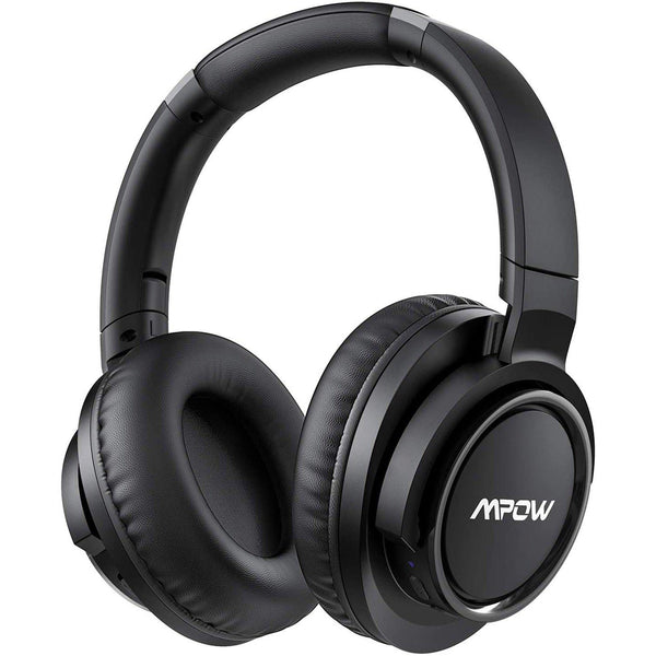 Mpow H18 Noise Cancelling Bluetooth Headphones Wireless & Wired for Cellphone PC TV Travel Work- Model: BH146A (Black)