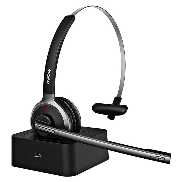 Mpow M5 Pro Wireless Bluetooth with Microphone, Headphones for Cell Phone, Noise Canceling- Model: BH231A (Silver/Black)