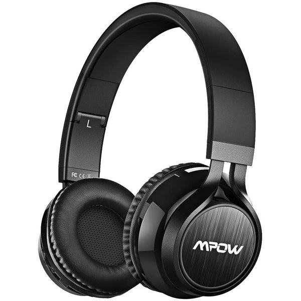 Mpow Thor Wireless Bluetooth V4.1 Hi-Fi Stereo Headphones, With CVC6.0 - Model: BH036B (Black)