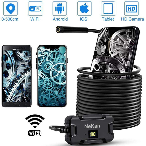 NEKAN Endoscope HD 5m Focal Length Inspection Camera 2.0Mp Resolution: (1920*1080) 2600mA - DealsnLots