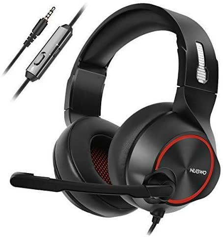 NUBWO Stereo Wired Gaming Headset - Model: N11-[Black/Red]