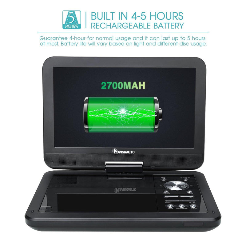 Naviskauto 10.1 Portable DVD Player-Model:BP-PD1001B-(Black)