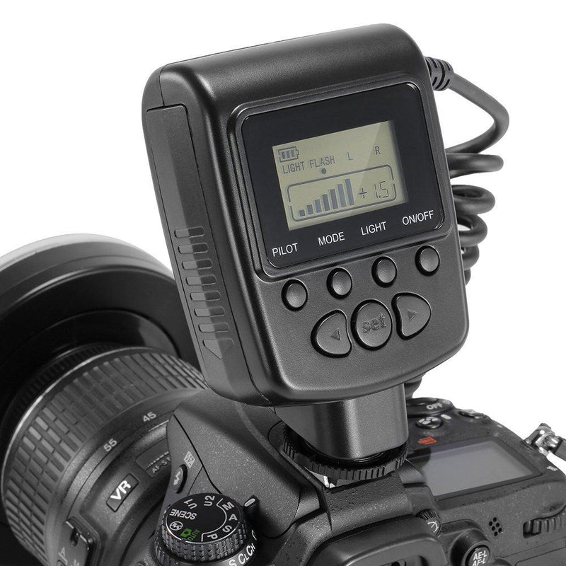 Neewer 48 Macro LED Ring Flash Bundle with LCD Display Power Control, Adapter Rings and Flash Diffuser (Black)