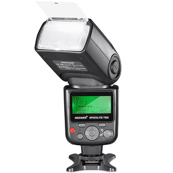 Neewer 750II TTL Flash Speedlite with LCD Display for Nikon DSLR Cameras (Black)