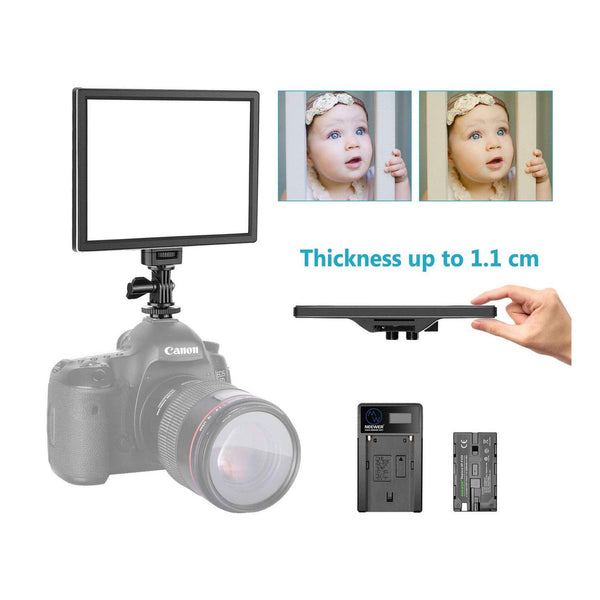 Neewer Ultra-thin LED Video Light Model:T100  (Battery Not Include) (Black)