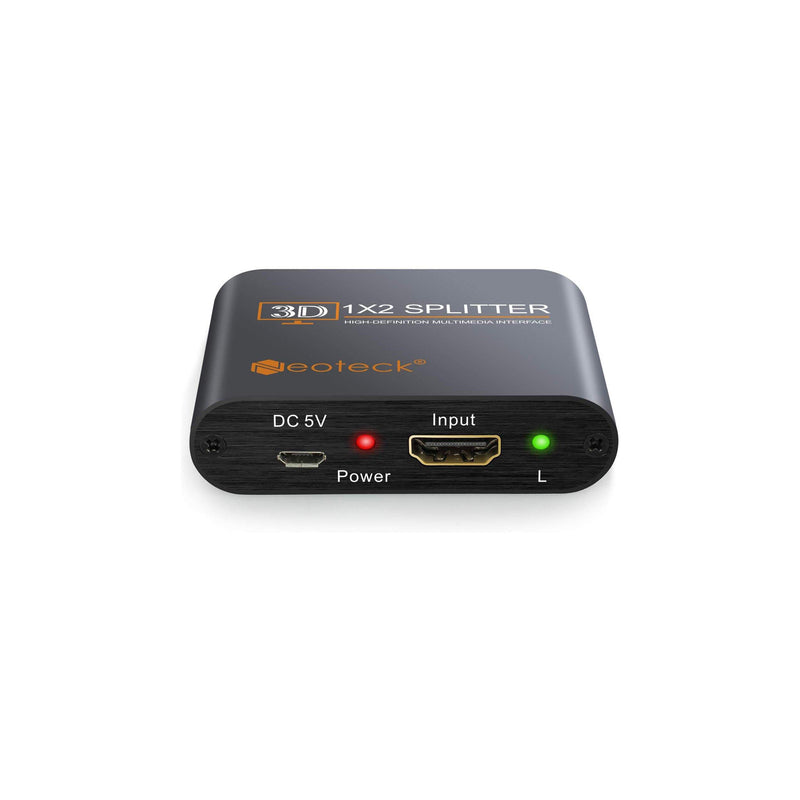 Neoteck 2 Way HDMI Splitter Aluminum 1080P HD - Model : NTK005 - (Black)