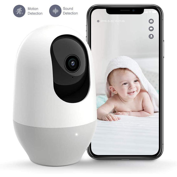 Nooie Wireless IP Nanny Camera, 1080P Home Security, 360-degree- Model: IPC100 (White)
