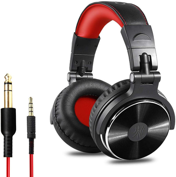 OneOdio Studio DJ Over Ear Headphones Stereo with Mic - (Red/Black)