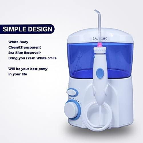 Oralcare Dental Jet, Family Pack Dental Flosser, Water Flosser, 600ML Water Tank (White)