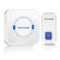 Pecham Wireless Doorbell Chime Kit Waterproof Remote Button Long Operation Range - White