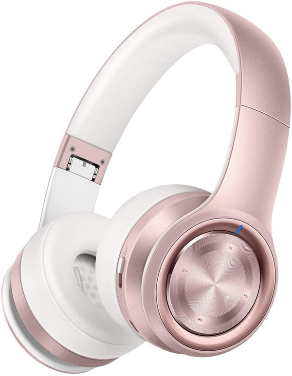 Picun Wireless Bluetooth V4.1 Hi-Fi Stereo Headphones Model: P26 (Rose Gold)