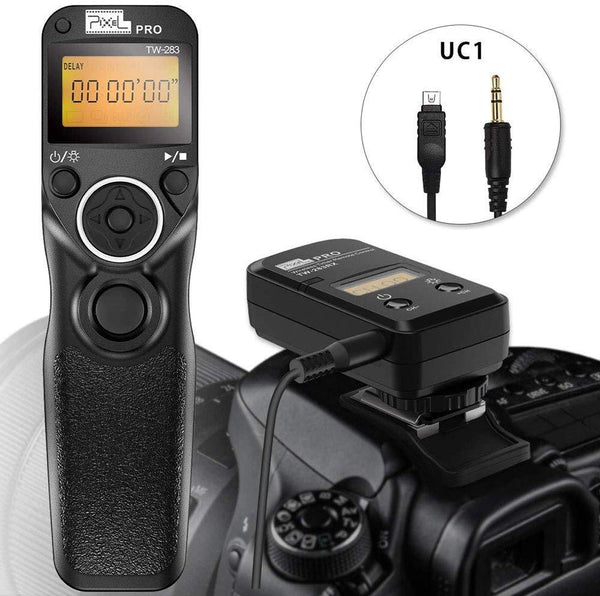 Pixel Wireless Shutter Release Cable Timer Remote Control  UC1 for Olympus Cameras Model:TW-283(Black)