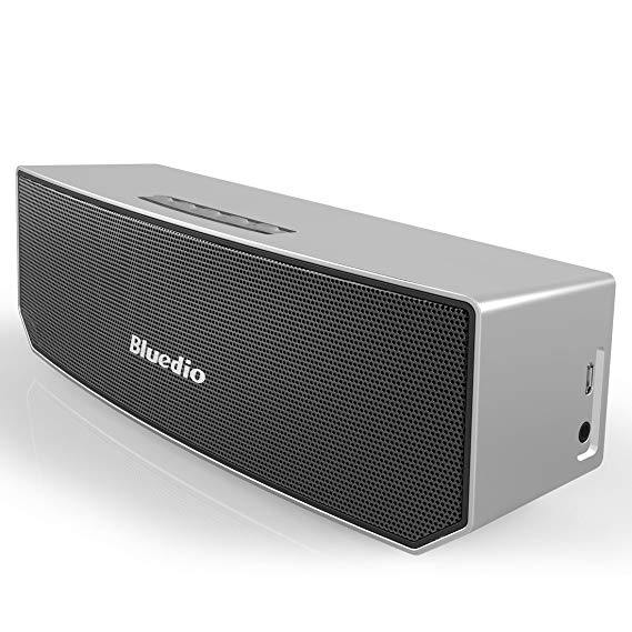 Bluedio BS-3 (Camel) Portable Bluetooth Wireless Stereo Speaker with Mic for Calls - (Silver)
