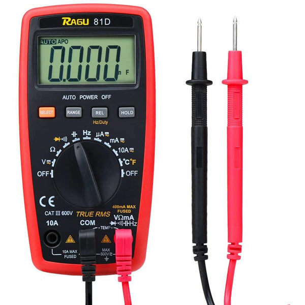 RAGU 81D Digital Multimeter- (Black/Red)
