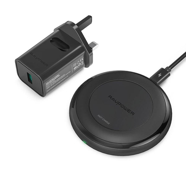 RAVPower Qi Wireless Charger with Quick Charge 3.0 AC Adapter - RP-PC034 - DealsnLots