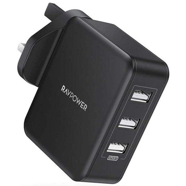 RAVPower i SMART 30W 6A 3-Port USB Wall Plug Charger RP-PC020