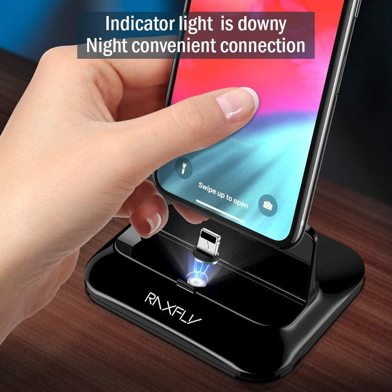 RAXFLY Magnetic iPhone Charging Dock  (Black)