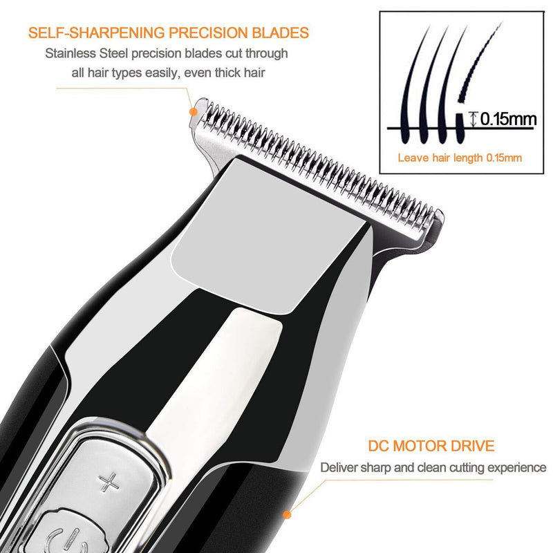RENPHO Clippers Kit For Men Hair and Beard T-blade Trimmer for Home, 4-Speed Motor- Model: RF-HC-US01 (Black)