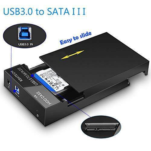 RSHTECH Hard Drive Enclosure USB 3.0 to SATA External Hard Drive Docking Station