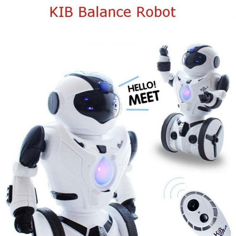 KidBe RC Robots KIB Self Balancing Tumbler Robot Intelligent Balance Wheelbarrow Remote Control Toy - (White)