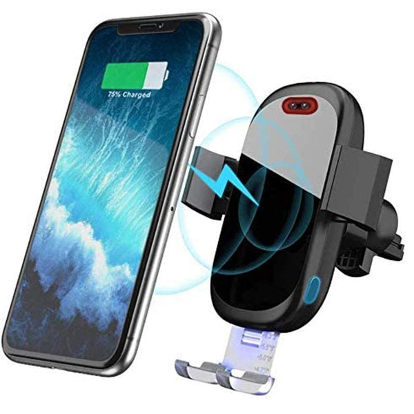 SONRU M9 10w Wireless Car Charger Mount Infrared Sensor Auto Clamp Fast Charging - DealsnLots