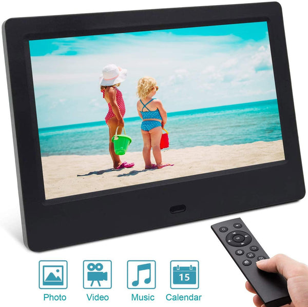 "SSA 7""Inch Digital Photo Frame Unique UI Design with Remote Control -(Black)"