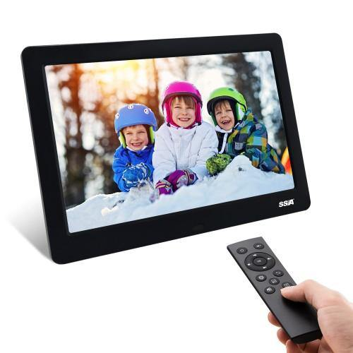 SSA 8.2 inch Digital Photo Frame IPS Remote Control Photo/Music/Video Player Calendar (Black)