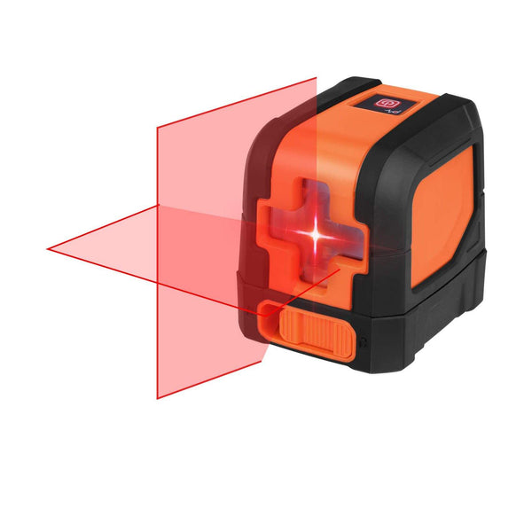 SUAOKI L12R Cross Line Laser, Self-Leveling Horizontal and Vertical Line Laser - (Black/Orange)