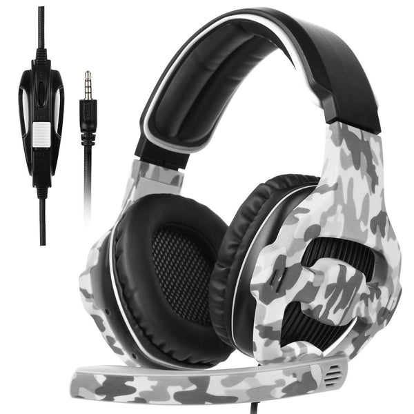 Sades Multi-platform Over-Ear Stereo Bass Gaming Headphone with Noise Isolation Microphone - Model: SA-810 (Army-Black) - DealsnLots