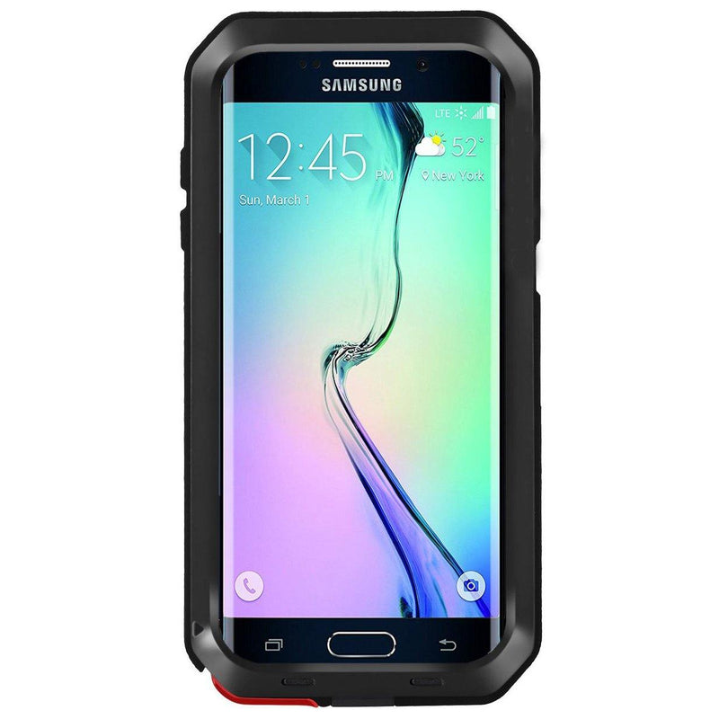 Seacosmo Protective Case For Galaxy S6 Edge-(Black)