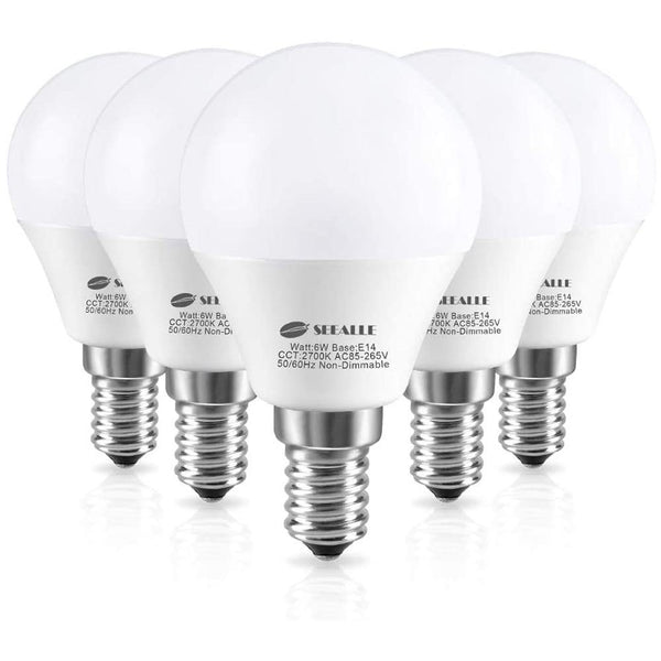 Seealle 6W  E14 LED Lights Bulbs, 2700K Warm White (Pack of 6) - DealsnLots