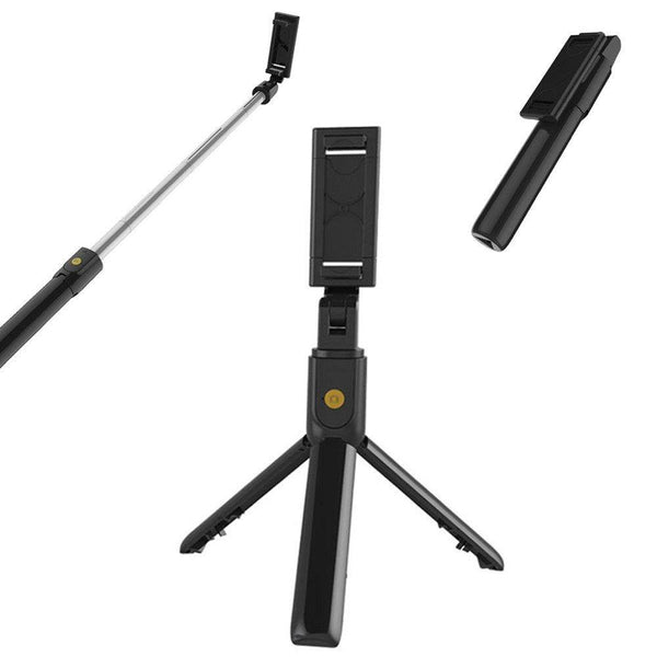 Selfie Stick With Tripod Mobile Phone Bluetooth- Model: K07 (Black) - DealsnLots