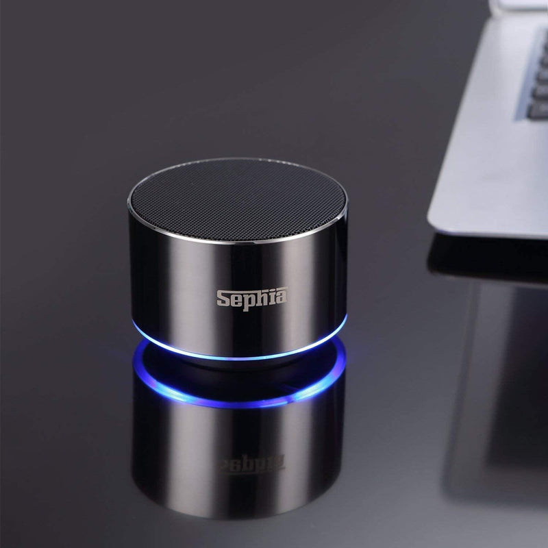 Sephia  Mini Bluetooth Wireless , Portable Speaker with Built in Microphone- Model: A2 (Silver)