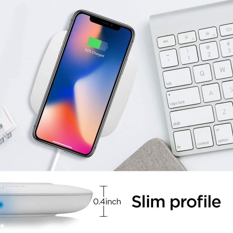 Spigen Essential  Qi Wireless Charger Model:F301W(White)