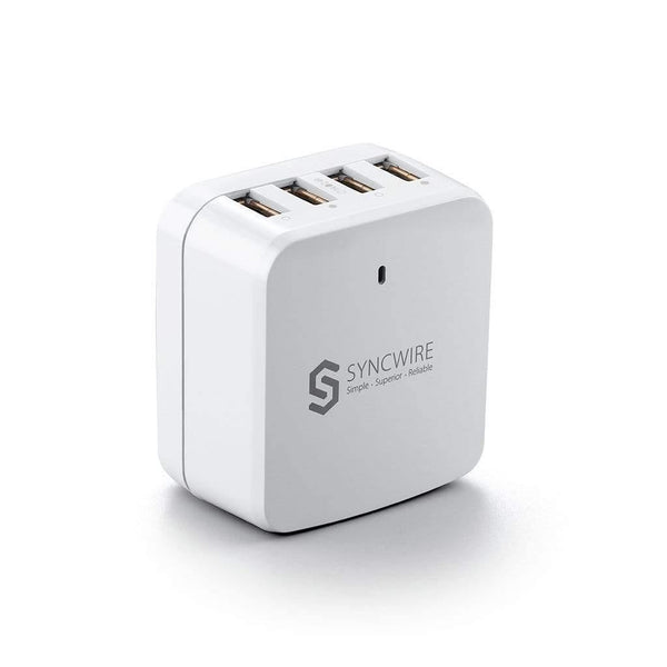 Syncwire 34W Multi-Port USB Wall Charger-Model: GPE048E-050960-Z (White)