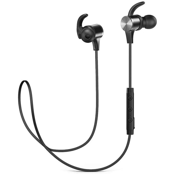 TAOTRONICS TT-BH07 Wireless Headphones 5.0 Magnetic Earbuds Black