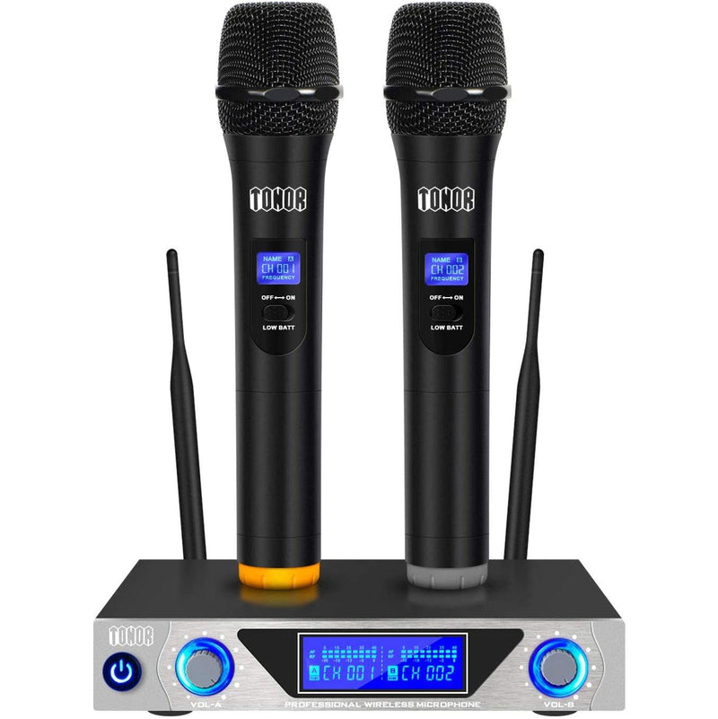 TONOR VHF Handheld Wireless Microphone System (Black) - DealsnLots