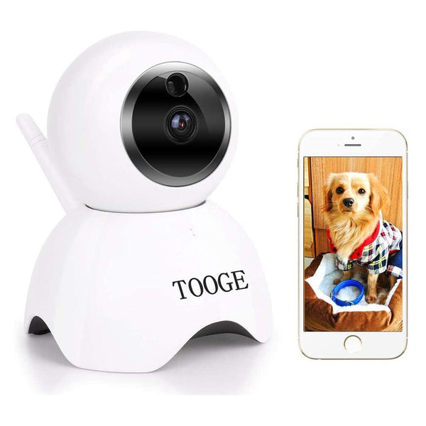 TOOGE Pet Dog Camera Wireless Home Security Camera Night Vision 2 Way Audio and Motion Detection - DealsnLots