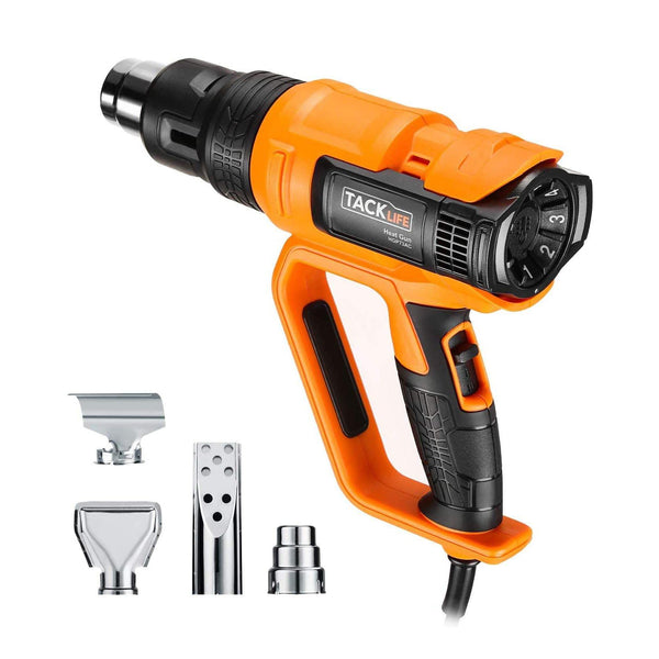 Tacklife 2000W Heat Air Gun with Adjustable Temperature, Ranged 50-600°C Model: HGP73AC (Orange/Black)