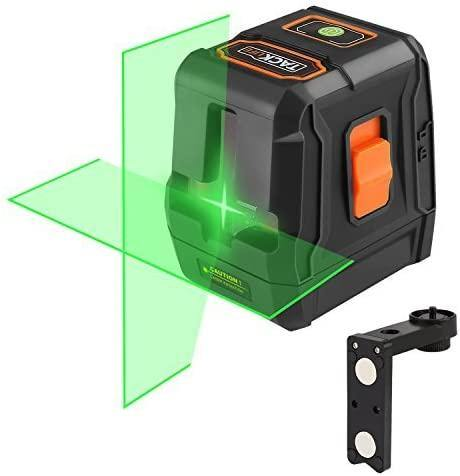 Tacklife Green Laser Level Test Measure & inspect Cross Line Laser- Model: SC-L07G (Black)