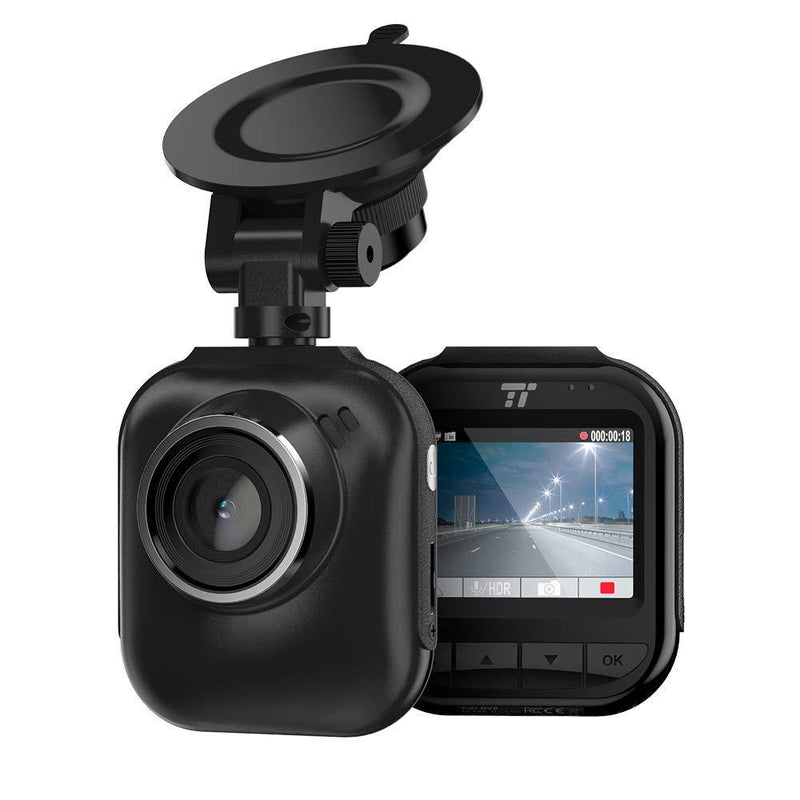 TaoTronics 2K QHD Dash Cam Model:TT-CD06 (Black) - (SD Card Not Included)