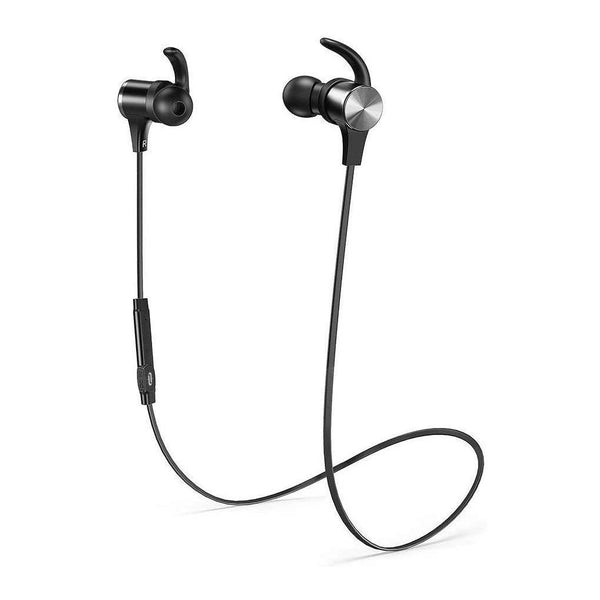 TaoTronics Wireless Bluetooth 5.0 Magnetic IPX7 Sports Earphones, [Upgrade Version of TT-BH07]-Model:SoundElite 71-(Black)