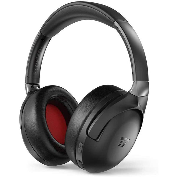 TaoTronics Wireless Bluetooth Headphones with Mic, with Active Noise Cancelling Audio- Model: TT-BH036 (Black)