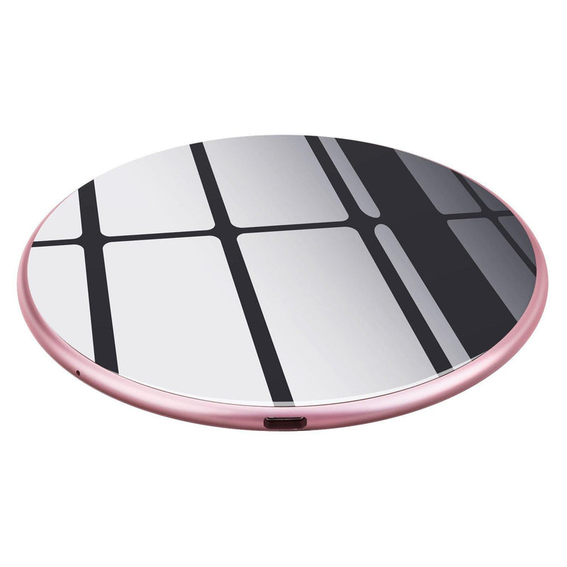 Te-Rich Qi Wireless Charger, 10W Fast Wireless Charging Pad (rose gold-black)