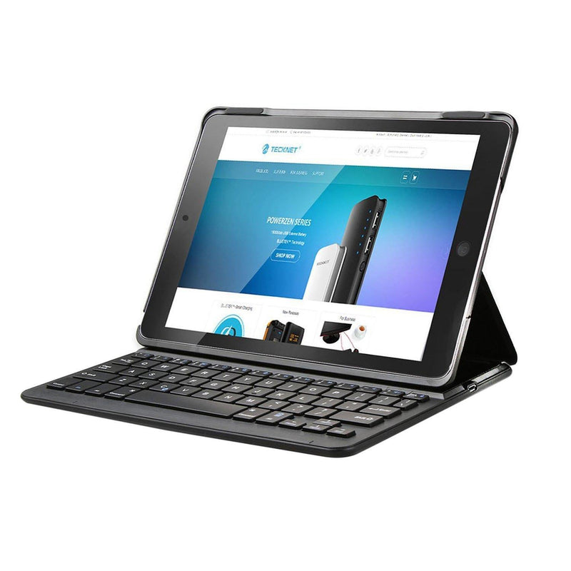 TeckNet iPad Air 2 Keyboard Case, Bluetooth Wireless Keyboard (Black)