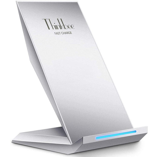 Thinkbee 18K13 Fast Wireless Charger, 10W Qi Fast Wireless Charging Stand (Silver) - DealsnLots