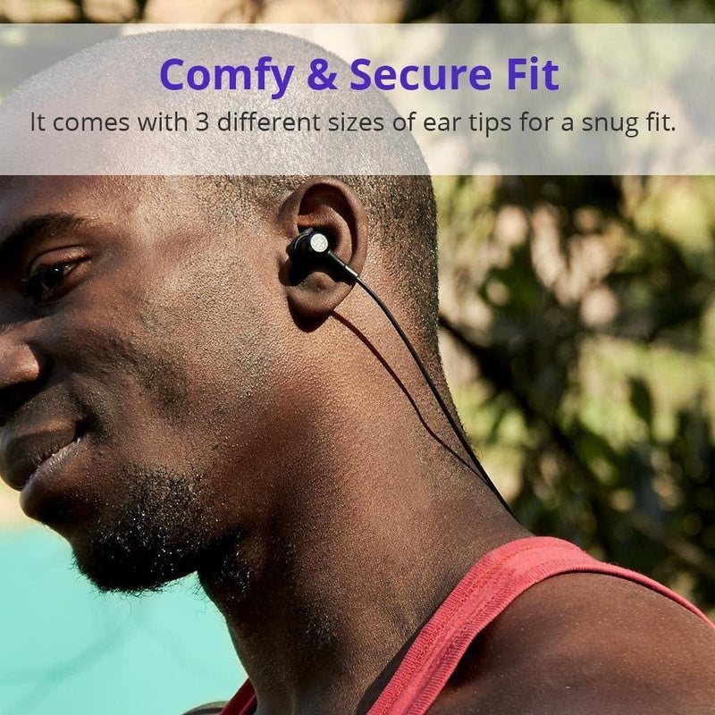 Tronsmart Bluetooth Wireless Magnetic Earphones with Mic, IP56 Waterproof for Sports-Model:Encore Flair-(Black)