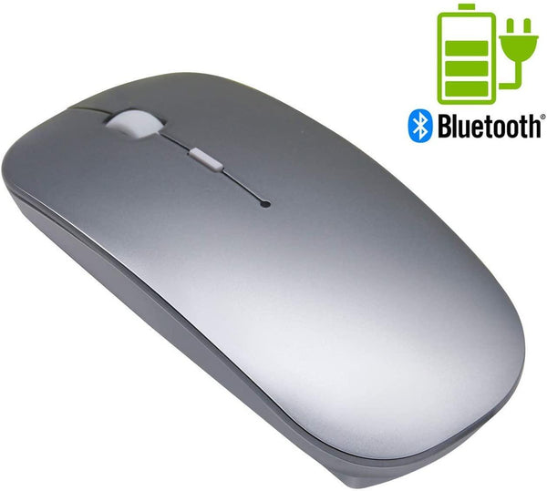 Tsmine Wireless Rechargeable Bluetooth Mouse, 3 Adjustable DPI Level (Grey)