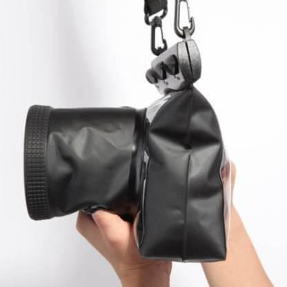 Tteoobl Waterproof Diving Camera Housing Case Dry Bag for Canon Nikon DSLR SLR Model:GQ-518 M (Black)